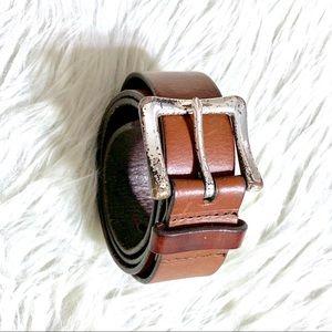 Gap Brown Authentic Leather Belt M Circa 2006